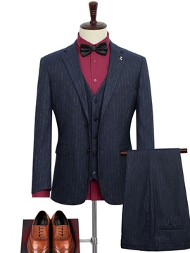 Ericdress Blazer Color Block Pocket Mens Dress Suit