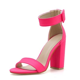 Ericdress Buckle Heel Covering Chunky Heel Women's Sandals