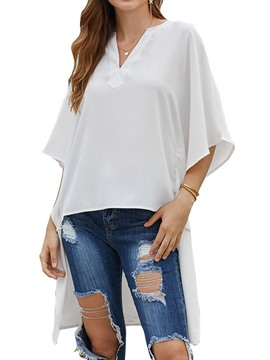 Ericdress V-Neck Plain Loose Fashion Blouse