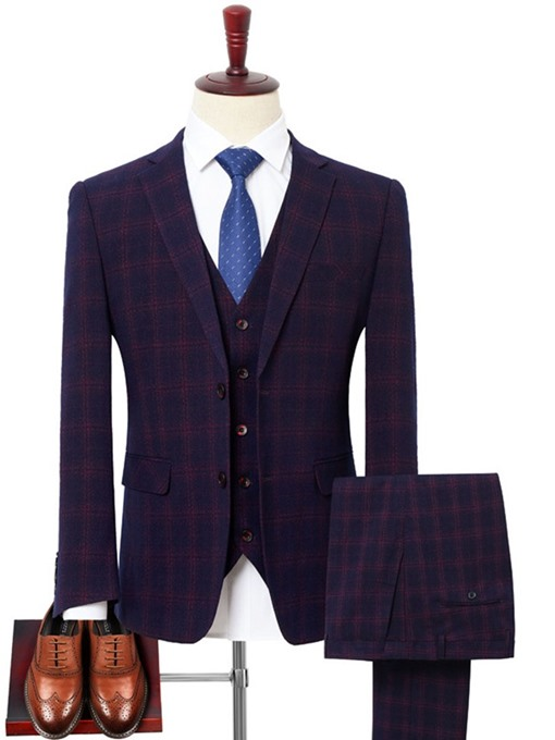 Ericdress Color Block Fashion Single-Breasted Mens Dress Suit