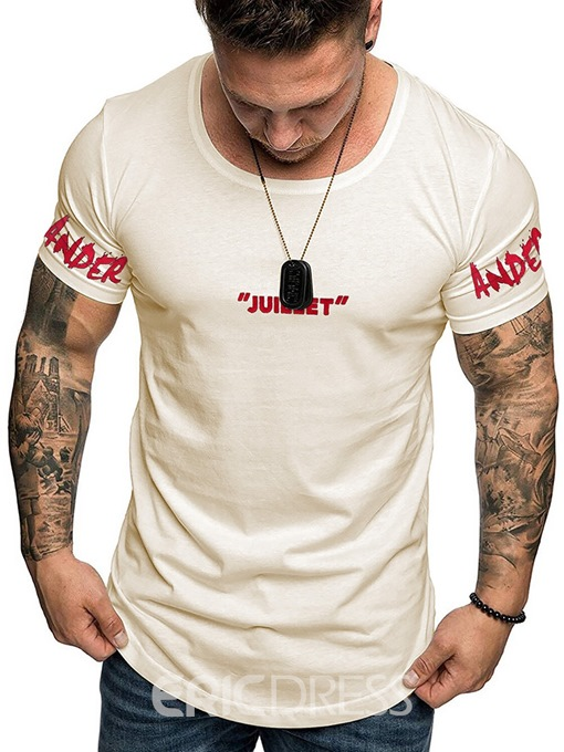 Ericdress Letter Print Casual Men's Loose T-shirt
