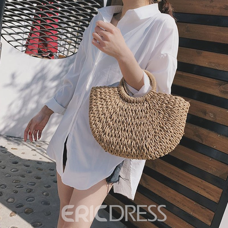 Ericdress Knitted Tote Bags