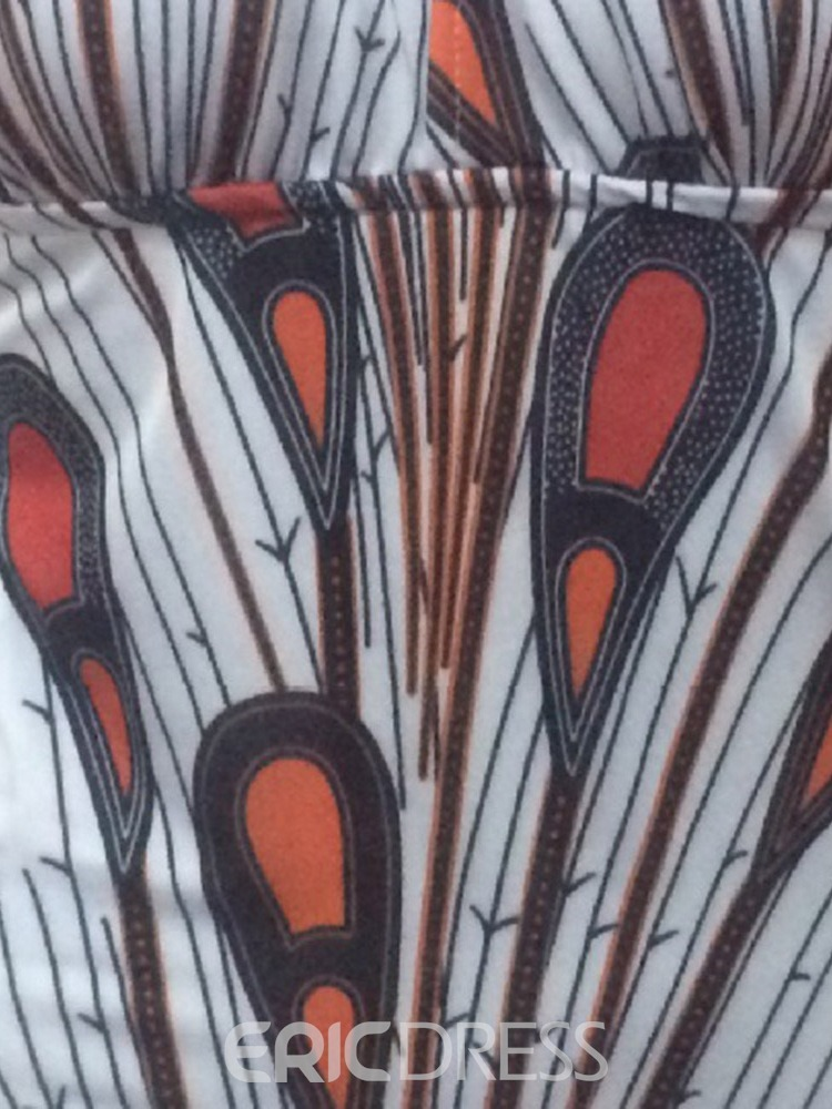 Ericdress Color Block Stretchy Print Sexy Swimsuit