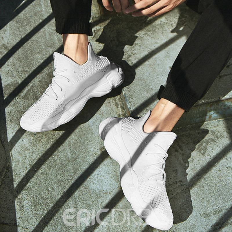 Ericdress Round Toe Lace-Up Men's Mesh Sneakers