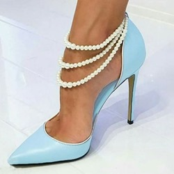 Ericdress Beads Pointed Toe Stiletto Heel Womens Prom Shoes thumbnail