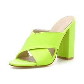 Ericdress Plain Cross Chunky Heel Women's Sandals
