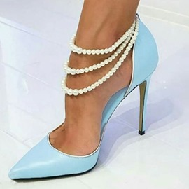 Ericdress Beads Pointed Toe Stiletto Heel Women's Prom Shoes