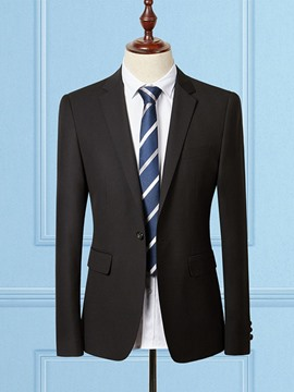 Ericdress One Button Mens Plain Blazer