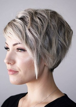 Ericdress Pixie Cut Style Women's Short Straight Synthetic Hair Capless Wigs 10inch