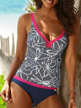 Ericdress Print Plus Size Tankini Set Swimsuit
