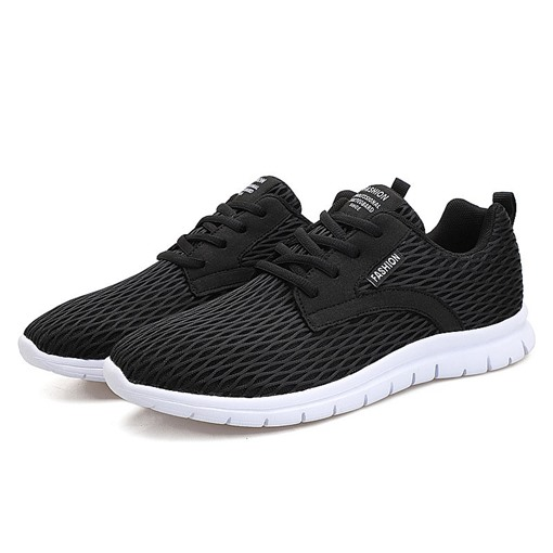 Ericdress Mesh Low-Cut Upper Lace-Up Men's Round Toe Sneakers