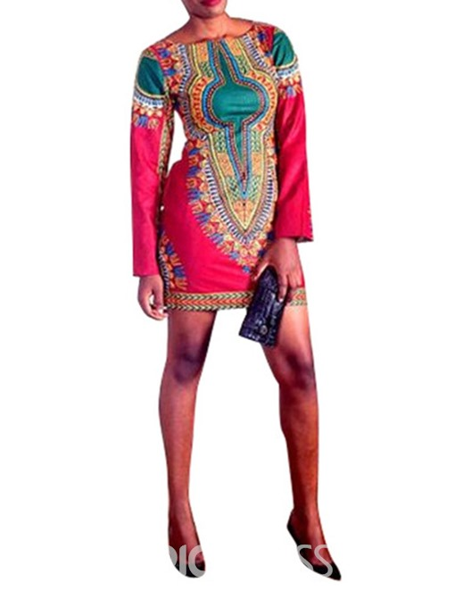 Ericdress African Fashion Above Knee Bodycon Mid Waist Dress