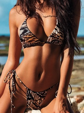 Ericdress Sexy Leopard Print Lace-Up Bikini