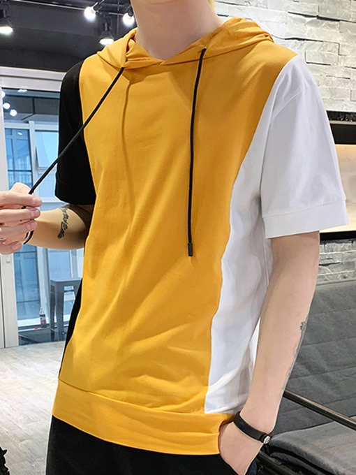 Ericdress Pullover Color Block Thin Men's Loose Hoodies