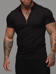 Ericdress Lapel Embroidery Casual Mens Slim T-shirt