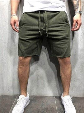 Ericdress Men's Pockets Solid Casual Sports Shorts