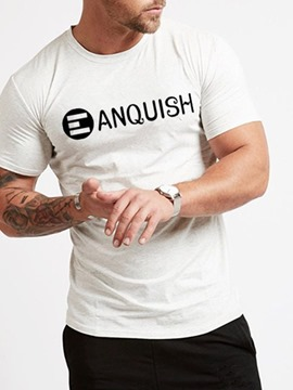 Ericdress Letter Print Casual Regular Men's Loose T-shirt