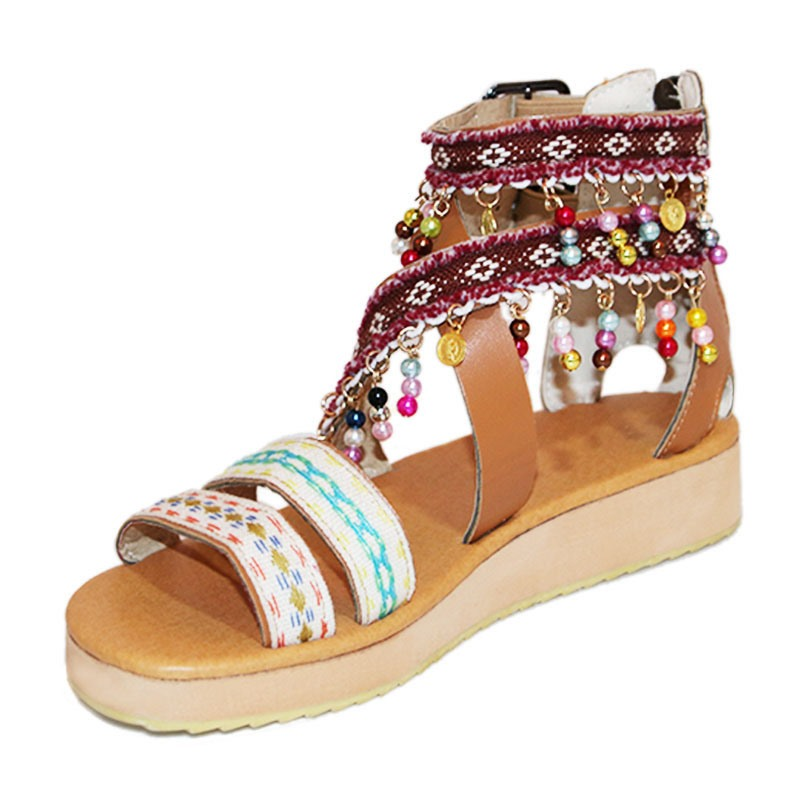 Ericdress_PU_Wedge_Heel_Buckle_Color_Block_Womens_Sandals