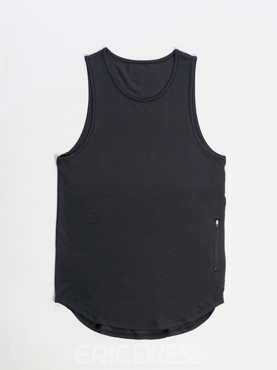 Ericdress Cotton Zipper Pullover Sleeveless Men's Vest