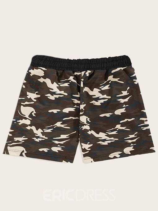Ericdress T-Shirt Sports Camouflage Mens Outfit