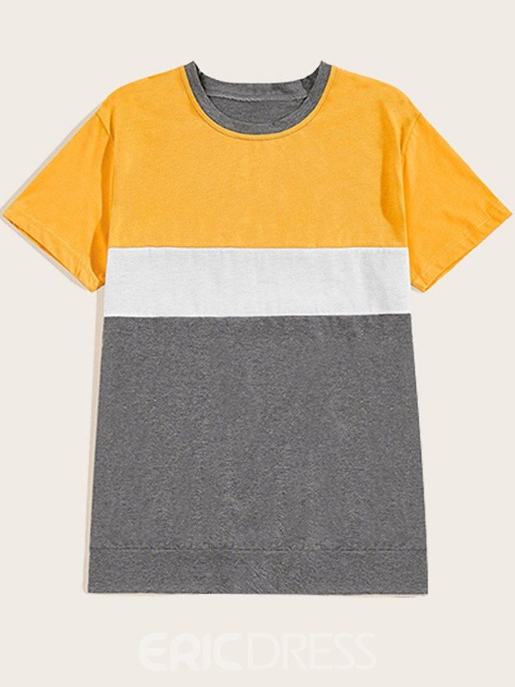 Ericdress T-Shirt Casual Pleated Mens Outfit