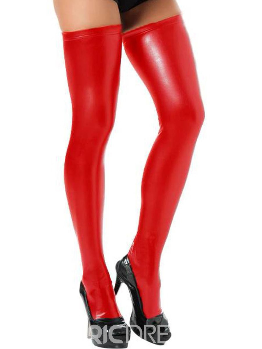Ericdress Women Plain Leather Thigh-High Stocking Bodystockings