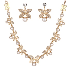 Necklace Spherical European Jewelry Sets (Wedding)