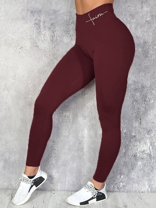 Ericdress Women Letter Breathable Running Yoga Pants