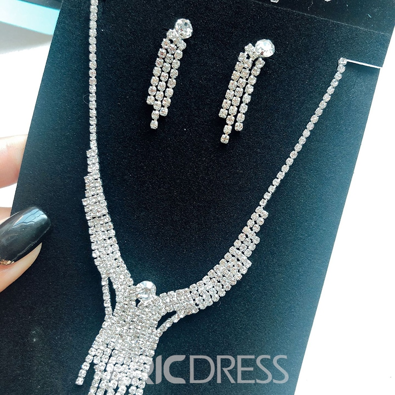 Tassel Earrings Korean E-Plating Jewelry Sets (Wedding)