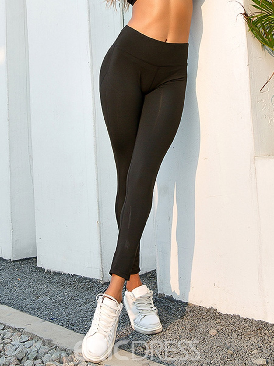 Ericdress Women Quick Dry Solid Running Yoga Leggings