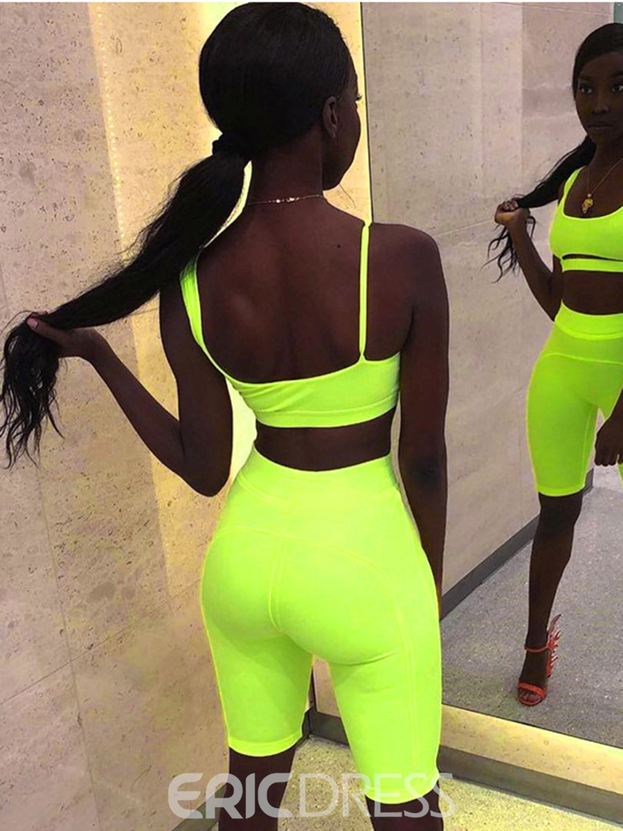 Ericdress Women Solid Pullover Sleeveless Sports Sets
