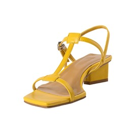 Ericdress Plain Buckle Chunky Heel Open Toe Women's Sandals