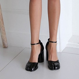 Ericdress Round Toe Buckle Chunky Heel Women's Pumps
