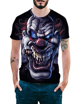 Ericdress Round Neck Fashion Sleeve Loose Halloween Men's T-shirt