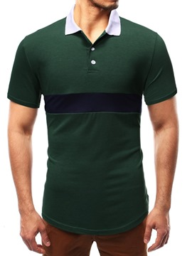 ericdress patchwork polo occasionnel mens