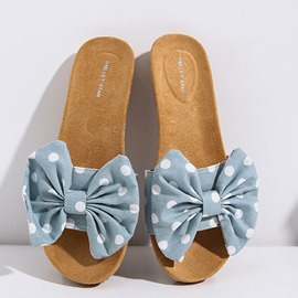 Zapatillas de playa con cordones, flip flop slip-on bow