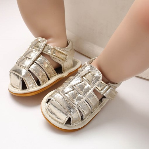 Ericdress Plain Velcro Hollow Baby Shoes