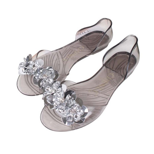 Ericdress PVC Slip-On Peep Toe Women's Jelly Shoes
