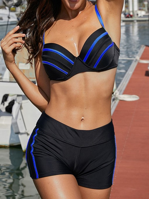 Ericdress Color Block Stretchy Polyester Swimsuit