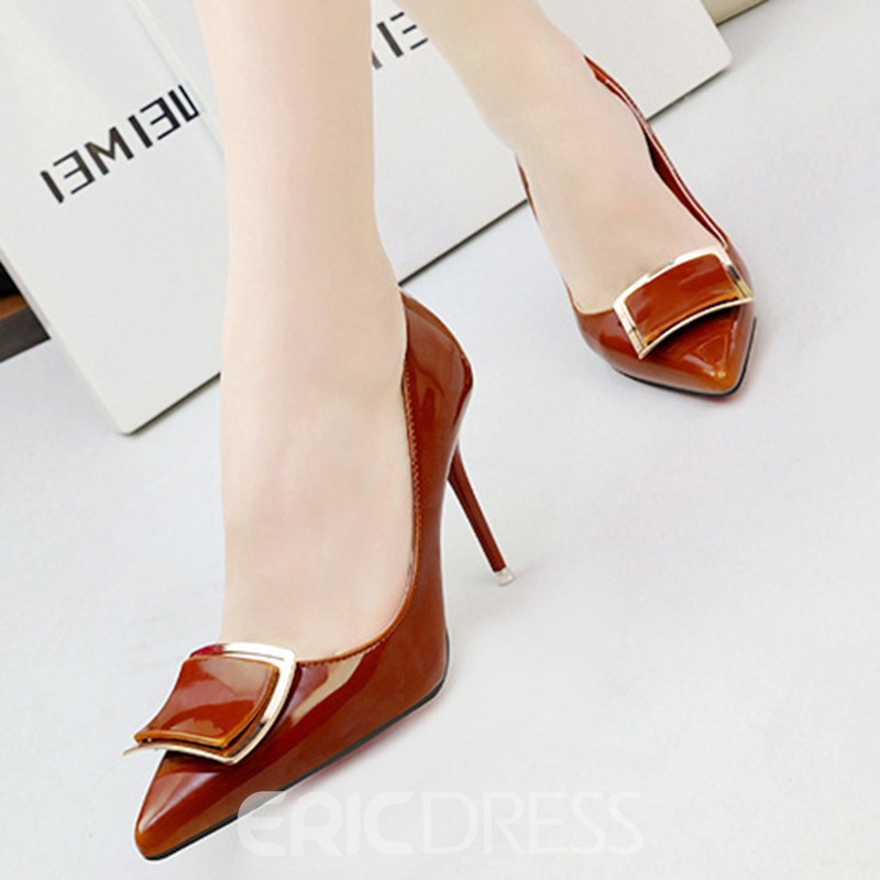 Ericdress Plain Pointed Toe Slip-On Women's Casual Pumps