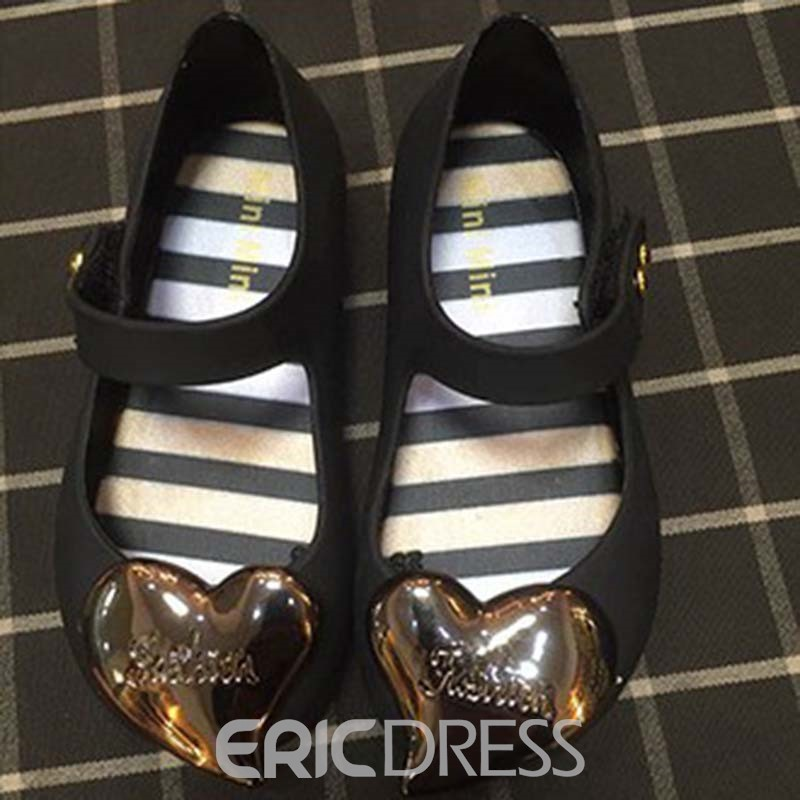Ericdress PVC Heart Round Toe Baby Sandals