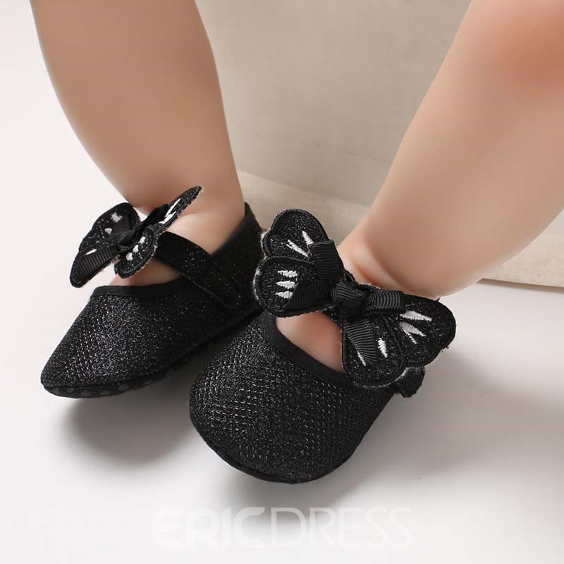 Ericdress Sequin Bowknot Velcro Toddler Shoes