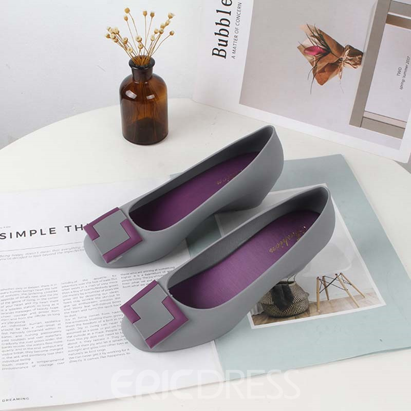 Ericdress PVC Slip-On Round Toe Wedge Heel Women's Jelly Shoes