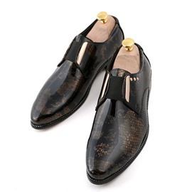 Ericdress PU Sequin Color Block Slip-On Men's Dress Shoes