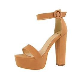 Ericdress Open Toe Heel Covering Chunky Heel Buckle Women's Sandals