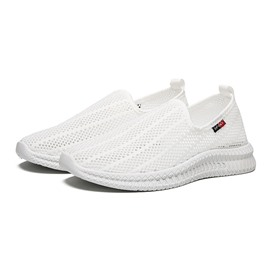 Ericdress Plain Mesh Low-Cut Upper Round Toe Slip-On Men's Sneakers