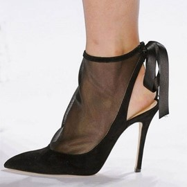 Ericdress PU Pointed Toe Stiletto Heel Lace-Up Women's Sandals
