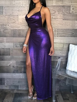 Ericdress Split Floor-Length V-Neck Cocktail Sexy Dress