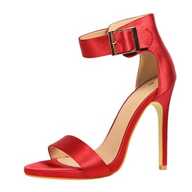 Ericdress Silk Fabric Heel Covering Stiletto Heel Women's Sandals