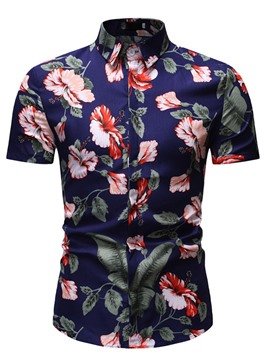 Ericdress Button Mens Single-Breasted Shirt